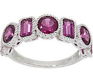 Judith Ripka Sterling Silver Seven Stone 2.80 cttw Rhodolite Ring - J349975