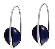 As Is Honora Cultured Pearl 12.5mm Coin Pearl Sterling Drop Earrings - J350575