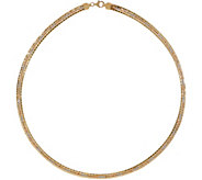 Italian Gold 18 Tri-Color Omega Necklace 14K Gold, 17.0g - J350975