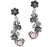 Or Paz Sterling Cultured Pearl Floral Dangle Earrings - J351375