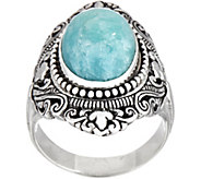 Artisan Crafted Sterling Silver Bold Cabochon Gemstone Ring - J354275