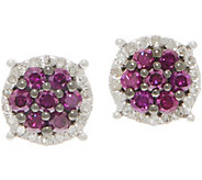 Purple Diamond Cluster Studs, 6/10 cttw, Sterling, by Affinity - J354775