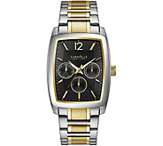 Caravelle New York Mens Two Tone Multi-Function Dial Watch - J375975