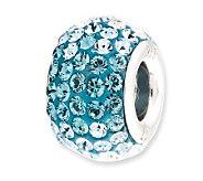 Prerogatives Sterling Bright Light Blue CrystalBead - J113176