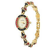 Joan Rivers Lucky Ladybug Enamel Watch - J286976