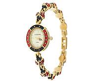 Joan Rivers Lucky Ladybug Enamel Watch - J286976