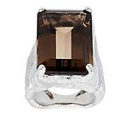 Mary Esses 22.00 cts Smoky Quartz Bold Cocktail Ring - J290576