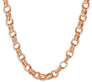 Bronze 24 Textured Triple Rolo Link Necklace by Bronzo Italia - J294676