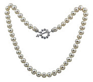Erica Courtney Cultured Pearl with Diamonique Toggle Necklace - J307476