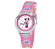 Disney Kids Minnie Mouse Stainless Steel Time Teacher - J309076