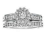 Round Diamond 2-Piece Ring Set, 14K, 1cttw, b yAffinity - J311376