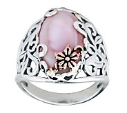 Carolyn Pollack Sterling Mother-of-Pearl Butter cup Ring - J312276