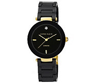 Anne Klein Womens Diamond-Accented Ceramic Bracelet Watch - J313376