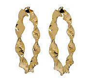 Veronese 18K Clad 2-1/2 Twisted Hoop Earrings - J314876
