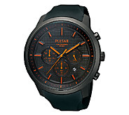 Pulsar Mens Black & Orange Chronograph Watch - J316276