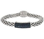 Popcorn Chain Diamond Bracelet, Sterling, 3/10 cttw, Affinity - J317176