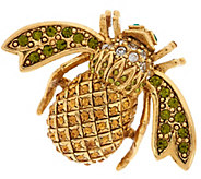 Joan Rivers Pave Pineapple Bee Pin - J319876