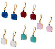 Joan Rivers Set of 5 Simulated Opal Drop Earrings - J321576