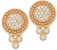Judith Ripka 14K Gold 1/2 cttw Diamond Earrings - J321776