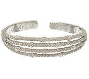 Judith Ripka Sterling Multi Row Cuff Bracelet - J322276