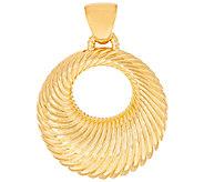 Oro Nuovo Graduated Ribbed Round Pendant, 14K - J324676