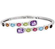 Judith Ripka Sterling 5.25 cttw Multi Gemstone Cuff Bracelet - J327376