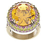 As Is Kirks Folly Dazzling Diva Crystal Cocktail Ring - J327776