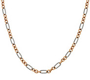 Carolyn Pollack Sterling Silver & Brass Opulence 24 Link Necklace - J329176