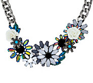As Is Joan Rivers Jeweled Blossoms 15 Necklace with 3 Extender - J329876