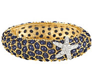 As Is Kenneth Jay Lanes Neptune Cabochon Bangle Bracelet - J332476