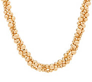 As Is EternaGold 18 Bold 14K Beaded Torsade Necklace, 25.8g - J333976