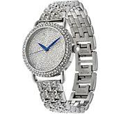 Stainless Steel Pave Crystal Bracelet Watch - J334176