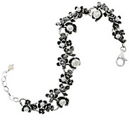 Sterling Silver Cultured Pearl Floral Bracelet by Or Paz - J346676