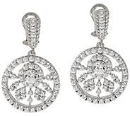 As Is Judith Ripka Sterling 118 Facet 5.30 ct Diamonique Drop Earrings - J347576