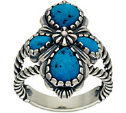 American West Sterling Silver Kingman Turquoise Ring - J347776