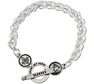 My Saint My Hero Blessed Links Toggle Bracelet - J348376