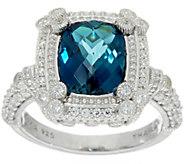 Judith Ripka Sterling Silver 3.00 ct. London Blue Topaz Ring - J349676