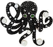 Judith Ripka Sterling Silver Gemstone Octavia Octopus Pin, 8.00 cttw - J349776