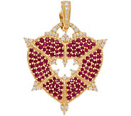 Judith Ripka 14K Gold Gemstone & Diamond Heart Enhancer - J350276