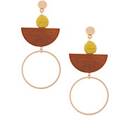 The Zoe Mixed Media Drop Earrings - J354876