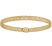 14K Stretch Mesh Bangle, 1.7g - J378776