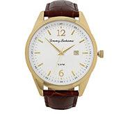 Tommy Bahama Siesta Key Leather Strap Watch, Brown - J379776
