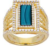 Judith Ripka Sterling & 14K Clad Green Malachite Ring - J379976