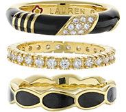 Lauren G Adams Goldtone Stackable Ring Set - J380876
