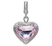 Judith Ripka Sterling Diamonique Heart Charm - J381176