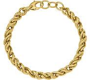 Italian Gold 8 Double Twisted Link Bracelet 14K, 7.6g - J381576