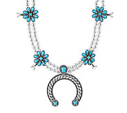 American West Sleeping Beauty Turquoise BlossomNecklace - J383176