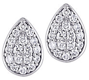 Affinity 14K 1/3 cttw Diamond Cluster Pear StudEarrings - J383676