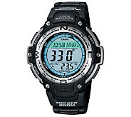 Casio Mens Digital Compass Twin Sensor Resin Band Watch - J106977