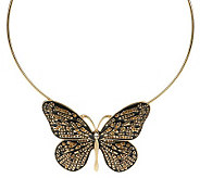 Enamel & Crystal Butterfly Necklace - J265877
